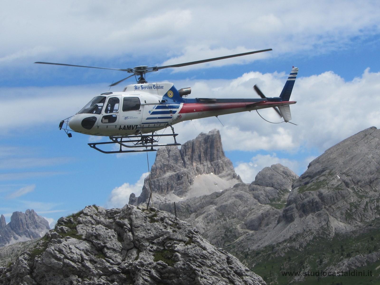 gestione, logistica e sicurezza dei lavori in quota con impiego di elicottero